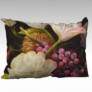 winter floral pillow by Marsha Bowers